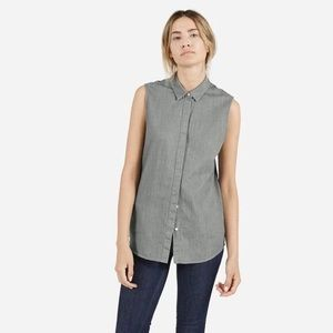 Everlane sleeveless button down